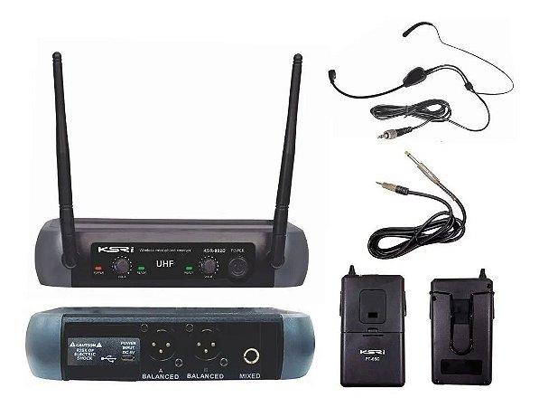 Microfone Sem Fio KSR KSR002 PT05C Headset Instrumentos
