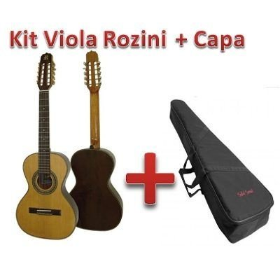 Kit Viola Rozini Presença Brasil Acústica Rv215ac + Capa