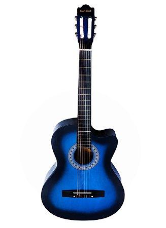 Violão Nylon Austin MAG6BL Blackwood 39 com Cutway Azul