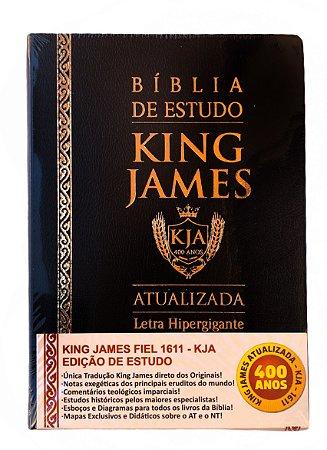 Bíblia de Estudo King James Atualizada Hipergigante Preta