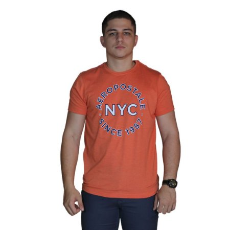 Camiseta AÉROPOSTALE NYC 1987 Laranja
