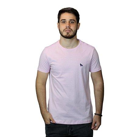 Camiseta Acostamento Básica Rosa Bebê