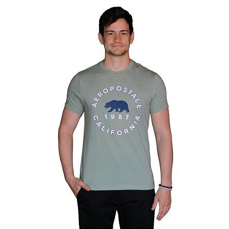 Camiseta AÉROPOSTALE Califórnia Verde Claro