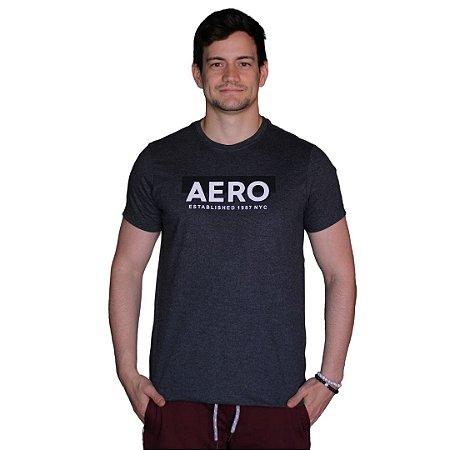 Camiseta AÉROPOSTALE Established Preto