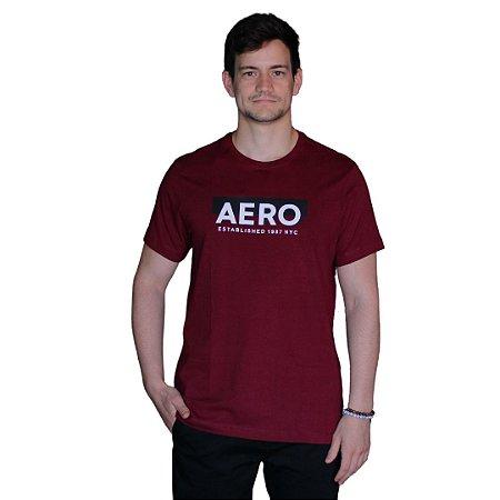 Camiseta AÉROPOSTALE Established Bordô