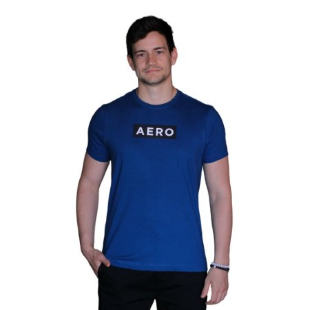 Camiseta AÉROPOSTALE Logo Aero Azul Celeste