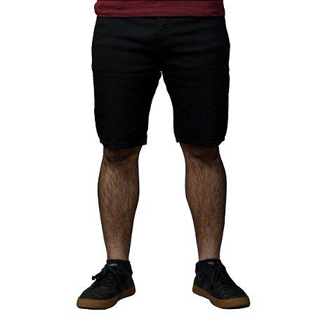 Bermuda ACOSTAMENTO Jeans Preto