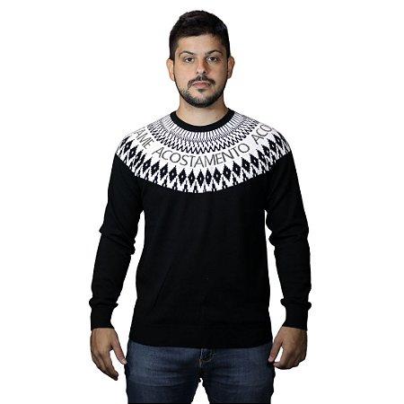 Tricot ACOSTAMENTO Mescla Pto/Branco