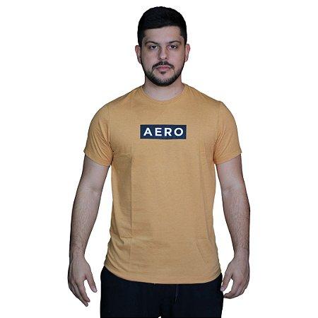 Camiseta AÉROPOSTALE Logo Aero Mostarda