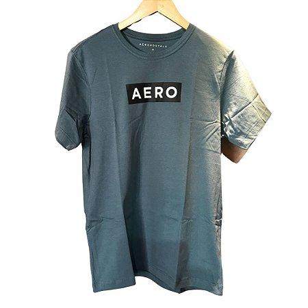 Camiseta AÉROPOSTALE Logo Aero Verde Aço