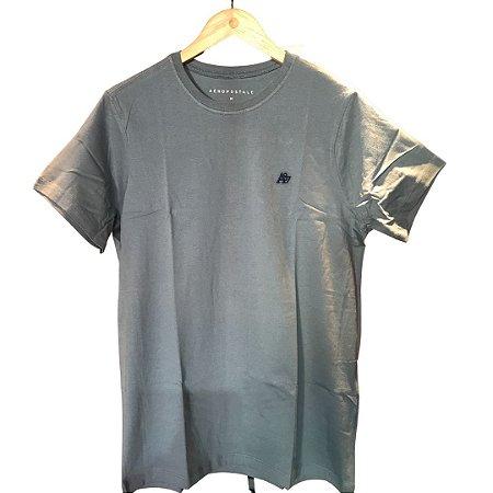 Camiseta AÉROPOSTALE Básica Verde Aço