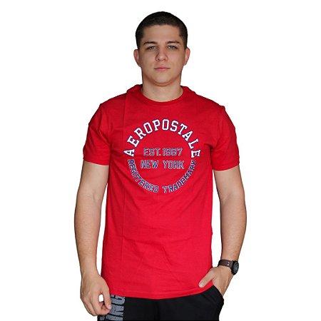 Camiseta AÉROPOSTALE Trademark Vermelho