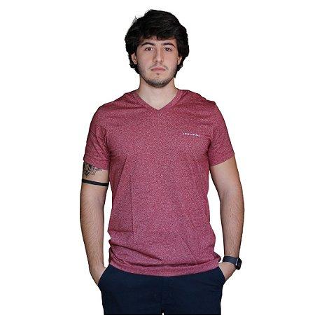 Camiseta AÉROPOSTALE Básica Gola V Bordô
