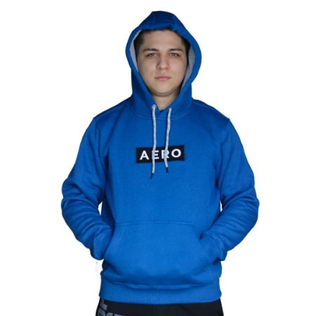 Blusa de Moletom AÉROPOSTALE Logo Aero Azul