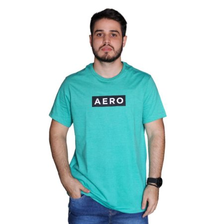 Camiseta AÉROPOSTALE Logo Aero Verde Ciano