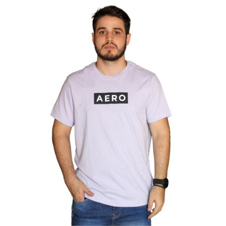 Camiseta AÉROPOSTALE Logo Aero Lavanda