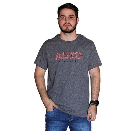 Camiseta AÉROPOSTALE Emborrachado Aero Cinza Escuro