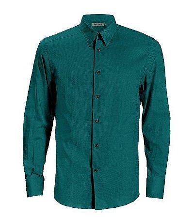 Camisa CATFISH Linho ML Verde