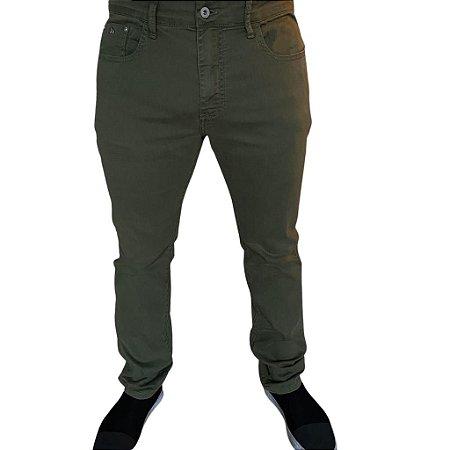 Calça ACOSTAMENTO Sarja Verde Militar