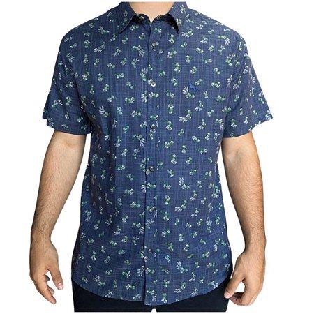 Camisa ACOSTAMENTO Florido Marinho