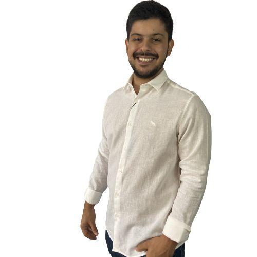 Camisa ACOSTAMENTO ML CH Linho Off White