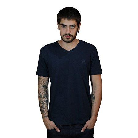 Camiseta JAB Gola V Marinho
