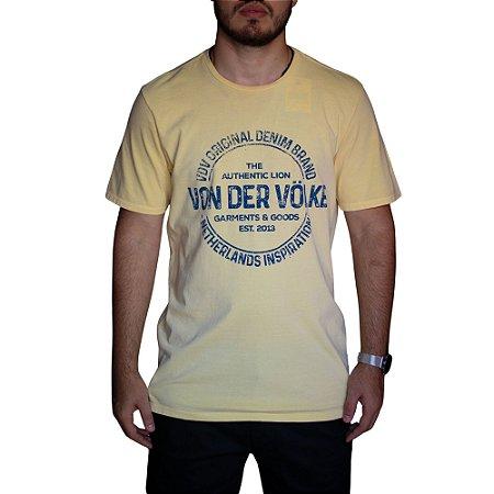 Camiseta VON DER VÖLKE Stamp Amarelo