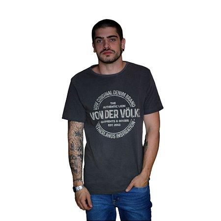 Camiseta VON DER VÖLKE Stamp Preto