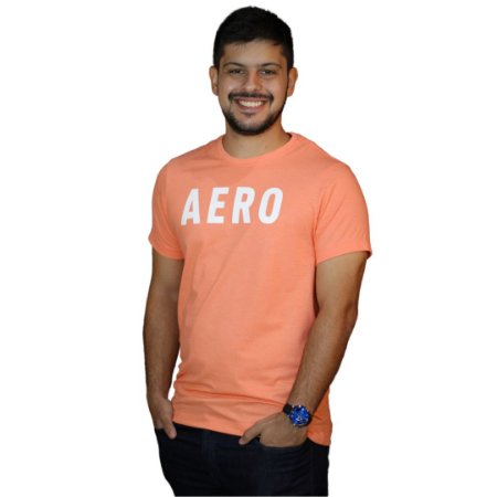 Camiseta AEROPOSTALE Logo Aero Salmão