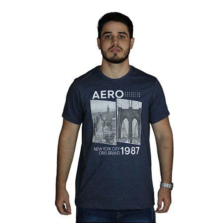 Camiseta AEROPOSTALE New York City Azul Marinho