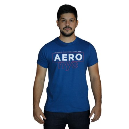 Camiseta AEROPOSTALE NYC Azul Escuro