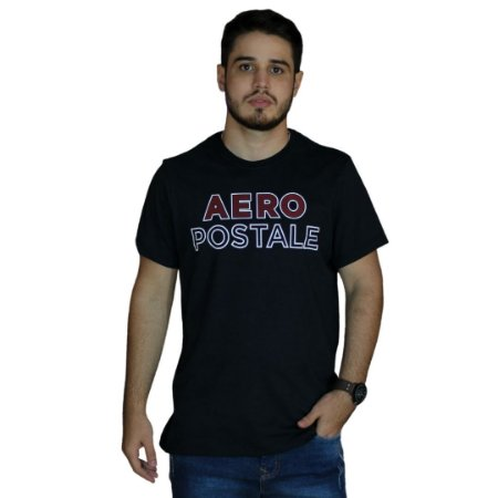 Camiseta AEROPOSTALE Preto