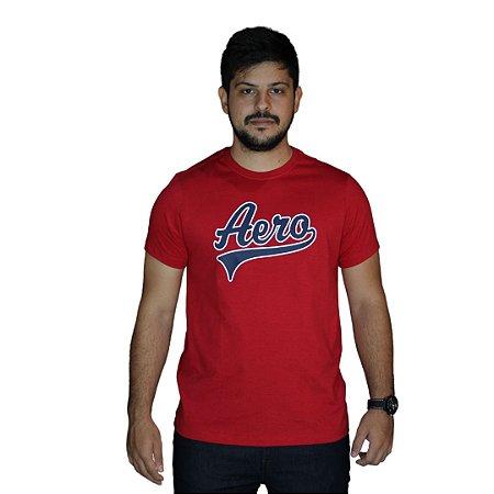 Camiseta AEROPOSTALE Logo Aero Vintage Vermelho