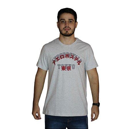 Camiseta AEROPOSTALE Mandarim Cinza Claro