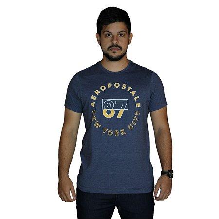 Camiseta AÉROPOSTALE 87 New York City Azul Marinho