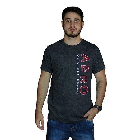 Camiseta AÉROPOSTALE Aero Original Brand Mescla Preto