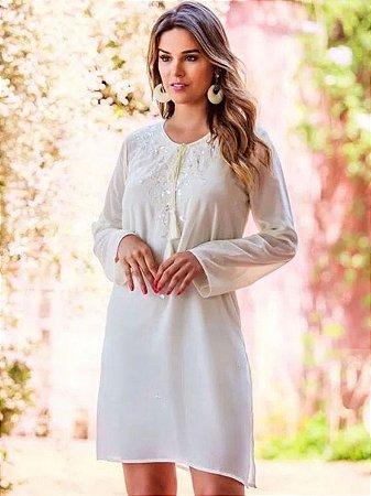 Vestido Bata Curto Branco