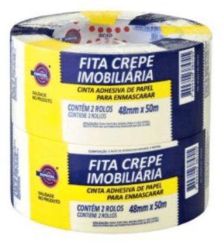 Fita Crepe Imobiliaria 48mmx50m Pct. c/ 2