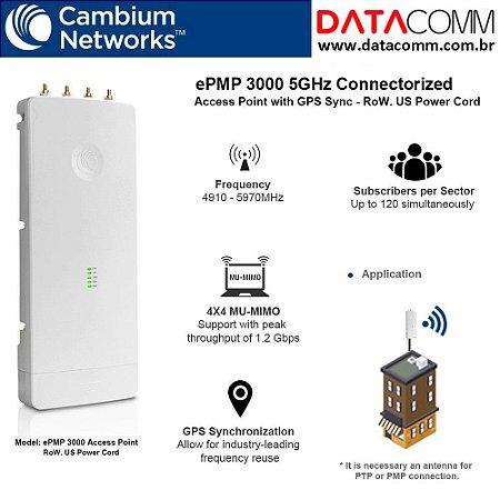 Rádio Epmp3000 5ghz Gps Mumimo 4x4 - C050910a601a