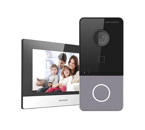 HIKVISION KIT VIDEO PORTEIRO INTERCOM IP DS-KIS603-P(B)