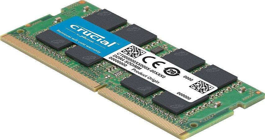 CRUCIAL MEMORIA DDR4 16GB 2400MHZ SODIMM CT16G4SFD824A