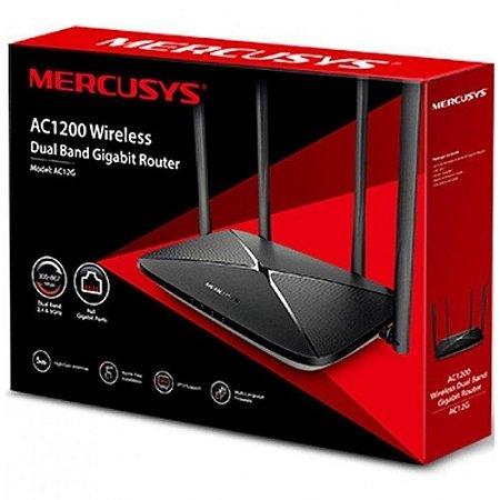 Roteador Mercusys AC12G AC1200 - Gigabit - Dual Band 2.4 GHz e 5 GHz - 4 Antenas