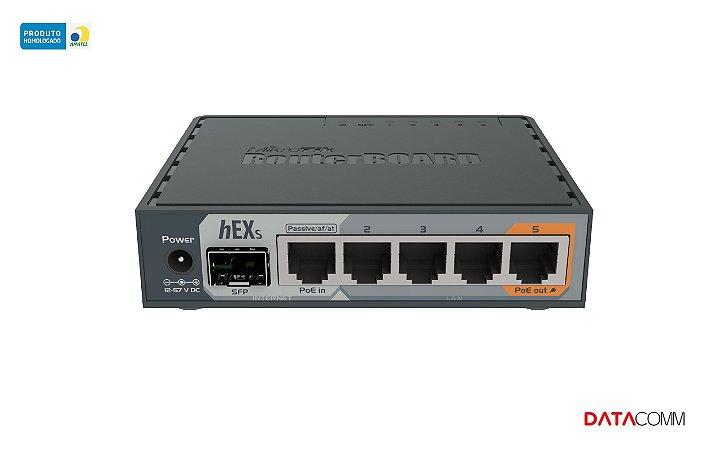 Roteador MikroTik RouterBOARD hEX S RB760iGS cinza 100V/240V