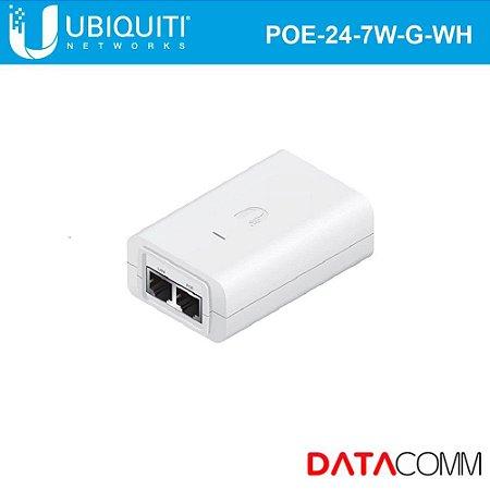 Fonte poe gigabit Ubiquiti POE-24-7W-G-WH-BR Fonte 0.3 Amperes
