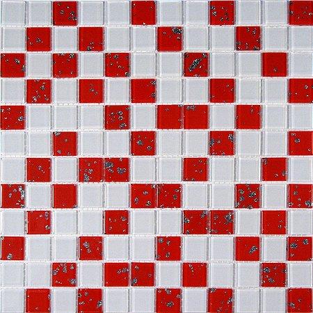 MIX CRISTAL GLASS BRANCO E VERMELHO GLITTER CG10/CG18
