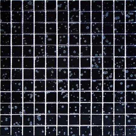CRISTAL GLASS PRETA COM GLITTER CG17