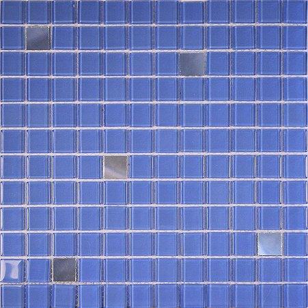 CRISTAL GLASS ESPELHO E AZUL CG42-CG26