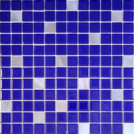 CRISTAL GLASS ESPELHO E AZUL CG42-CG28