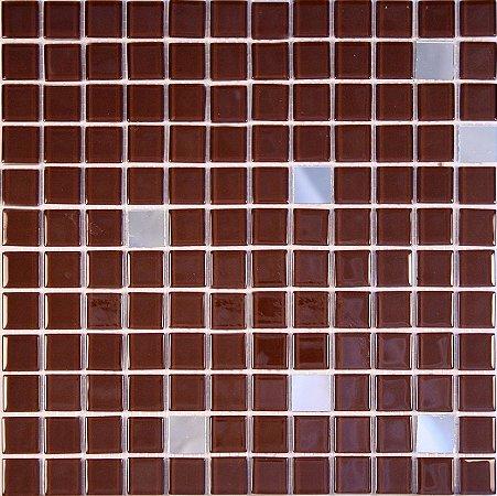 CRISTAL GLASS ESPELHO E MARROM CG42-CG38