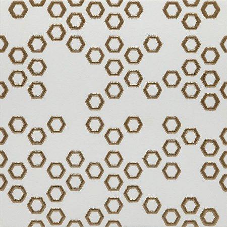PATCHWORK GOLD 19X19 CM LUXO